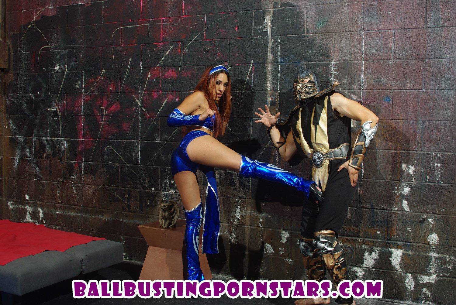 Kitana and Scorpion Mortal Kombat Ballbusting
