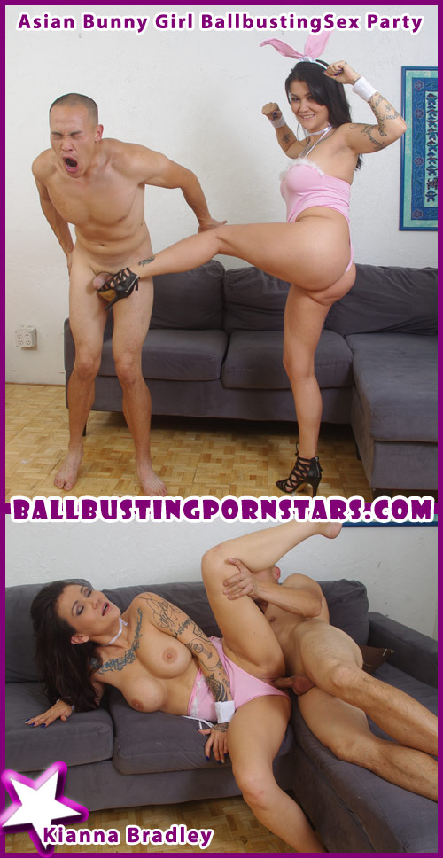 Asian Ballbusting with Kianna Bradley