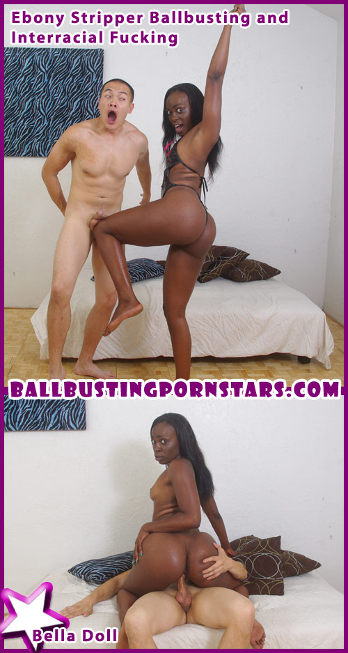 Bella Doll Ebony Stripper Ballbusting