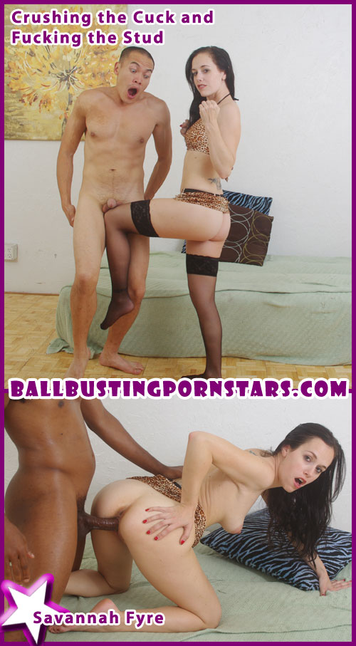 Interracial Cuckolding with Savannah Fyre